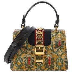 Gucci Sylvie Top Handle Bag Brocade Mini