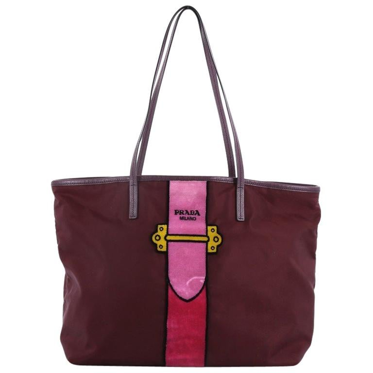 dd4c5d1834ed Prada Cahier Tote Bag Tessuto With Velvet Large For Sale at 1stdibs