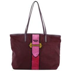 Prada Cahier Tote Bag Tessuto With Velvet Large