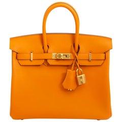Hermès Birkin 25 Apricot Swift GHW
