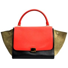 Celine Tri-colored Medium Shoulder Bag