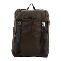 Prada Double Buckle Backpack Tessuto