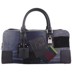 Loewe Amazona Bag Limited Edition Mixed Media and Leather 36