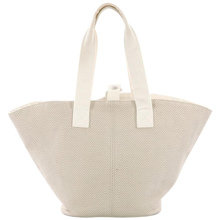 Hermes Panier De Plage Handbag Canvas PM For Sale