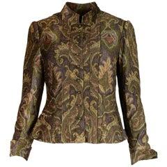 Ralph Lauren Brown Velvet Paisley Jacket NWT Sz 10