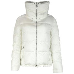 Prada White Down Puffer Jacket Sz 8