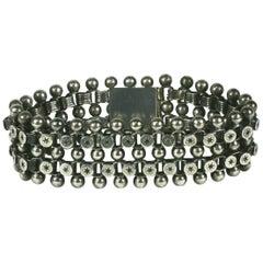Victorian Sterling Star Link Bracelet