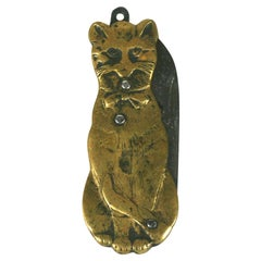 French Victorian Cat Pen Knife