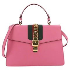 Gucci Sylvie Top Handle Bag Leather Medium