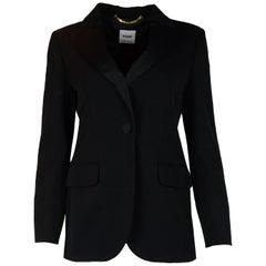 Moschino Black Tuxedo Blazer/Jacket W/ Satin Lapels Sz 10