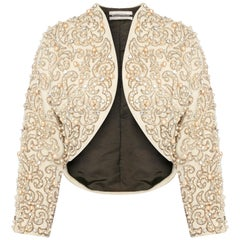 Great Unknown, Ivory embroidered jacket, circa 1960