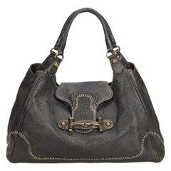 953c3b42ba47 Gucci Black Guccissima Leather New Pelham Hobo Bag