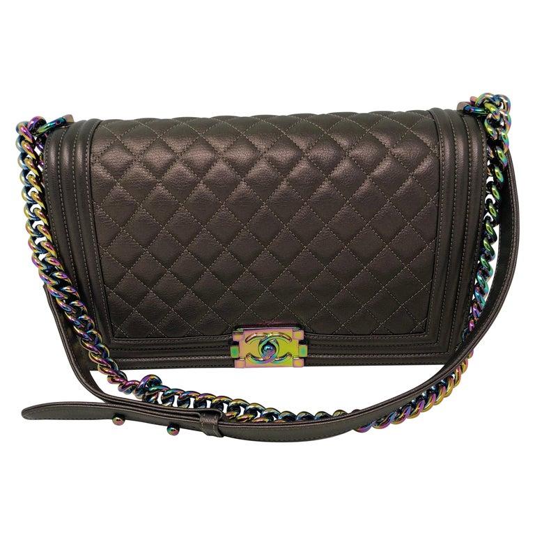 7bd8ba3c59762a Chanel Boy Bag Bronze Mermaid For Sale. Chanel Boy Bag Bronze Rainbow  hardware.