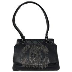 Chanel Black Silver Chains CC