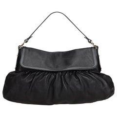 Fendi Black Leather Chef Bag