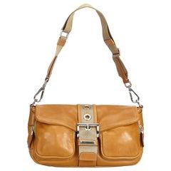 Prada Brown Leather Bagutte Bag