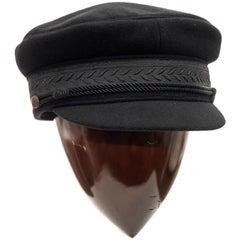 Yohji Yamamoto Pour Homme Black Wool Cashmere Greek Fisherman's Cap, Fall 2012