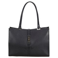 Gucci Black Leather Jackie Tote