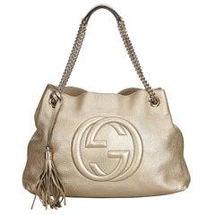 Gucci Gold Soho Leather Chain Shoulder Bag
