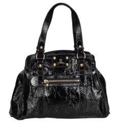 Fendi Black Patent Leather Bag Du Jour Tote