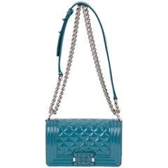 New Chanel Cerulean Blue Small Boy Bag