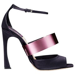 Christian Dior Metal Strap Satin Sandals