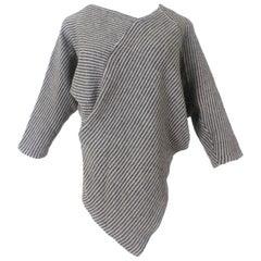 Issey Miyake Asymmetric Ribbed 1980's Sweater