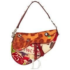2003 Christian Dior Multicolour Canvas Victim Saddle Bag