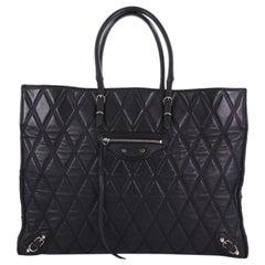 Balenciaga Papier A4 Classic Studs Handbag Quilted Leather