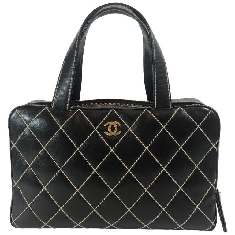 dbfc06633749 Chanel Surpique Bowler Bag For Sale at 1stdibs