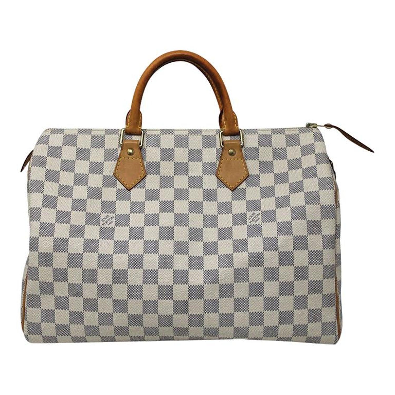 Louis Vuitton Speedy 35 Damier Azur Canvas Handbag with dust bag at 1stdibs 58df803391eb8