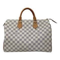Louis Vuitton Speedy 35 Damier Azur Canvas Handbag with dust bag
