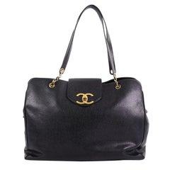 Chanel Vintage Supermodel Weekender Bag Caviar Large