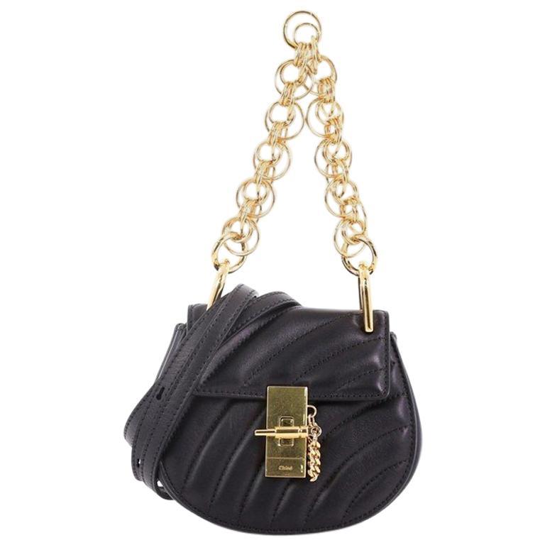 da43ffc174 Chloe Drew Bijou Crossbody Bag Quilted Leather Nano