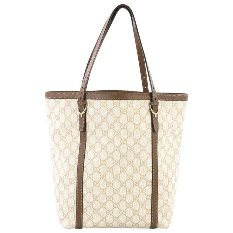 Gucci Nice Tote GG Coated Canvas Tall For Sale