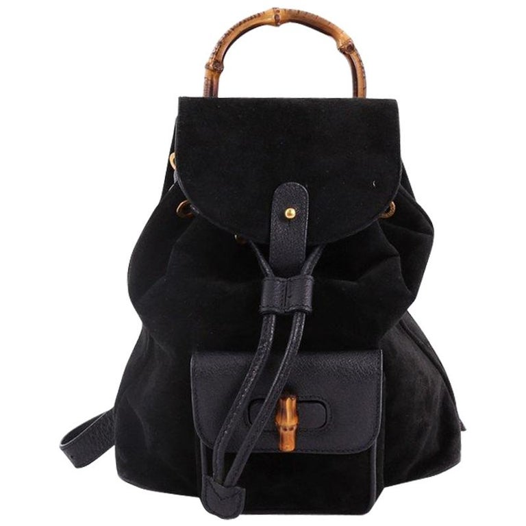 f420e0756948 Gucci Vintage Bamboo Backpack Suede Mini at 1stdibs