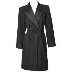 Yves Saint Laurent Rive Gauche Tuxedo Coat Dress
