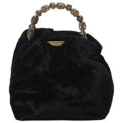 Dior Black Velour Malice Handbag