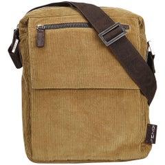 Fendi Brown Corduroy Crossbody Bag