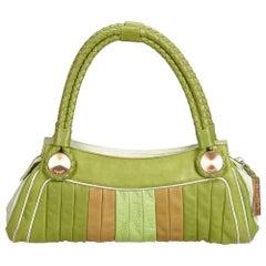 Fendi Green Leather Handbag