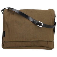 Fendi Brown Cotton Crossbody Bag