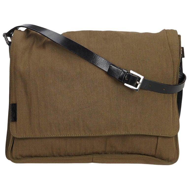 7a77ad8a0276 Fendi Brown Cotton Crossbody Bag at 1stdibs