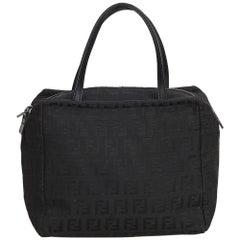 Fendi Black Zucchino Canvas Handbag