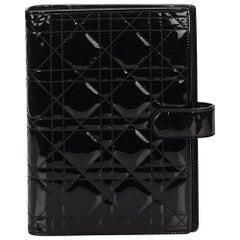 Dior Black Patent Cannage Agenda GM