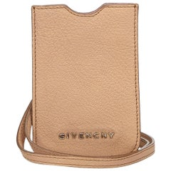 Givenchy Brown Leather Phone Case