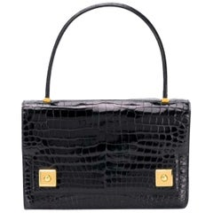 Hermes The Piano Black porosus crocodile Audrey Hepburn 60s
