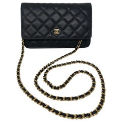 Chanel Black Caviar Leather WOC
