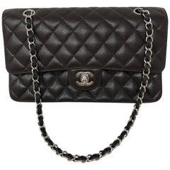 Chanel Brown Caviar Double Flap Bag