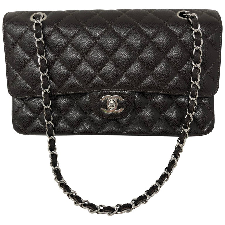 ba750cce6e72 Chanel Brown Caviar Double Flap Bag at 1stdibs