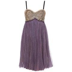 Lanvin, Purple dress & bolero, Autumn/Winter 2005